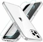 NEW 2020 Apple iPhone 12 Cover Case with Screen Protector Tough Clear Shockproof