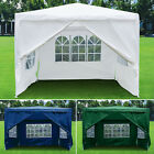 3x3M Gazebo with Sides Waterproof Marquee Canopy Garden Patio Wedding Party Tent