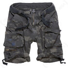 Brandit Savage Cargo Combat Belted Drawstring Shorts - Dark Camo - All Sizes