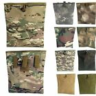 Airsoft Tactical Molle Large Folding Magazine Dump Drop Pouch Military Hunting