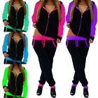 Women's Athletic Tracksuit 2 Piece Casual Pants Hooded Jacket Sex Sport Set