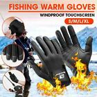 Winter Fishing Gloves 2 Half-Finger Palm Anti-Slip Waterproof for Outdoor Sports