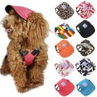 Pets Dog Summer Cap Puppy Baseball Visor Hat Outdoor Travel Sunbonnet Canvas Cap