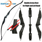 "57"" 3D Archery Takedown Recurve Bow Right Left Hand Hunting Target 20/30/40lbs"