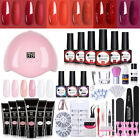 UR SUGAR Poly Nail Extension Gel Starter Kit UV Gel Polish Glitter w/ LED Lamp