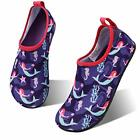 hiitave Kids Water Shoes Non-Slip Quick Dry Swim, Purple/Mermaid, Size 3.5 XOxZ