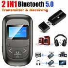 2 in1 Bluetooth 5.0 Transmitter Receiver Wireless Audio 3.5mm Adapter For TV PC
