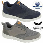 Mens Casual Lace Up Memory Foam Sneaker Walking Gym Sports Boat Driving Shoes