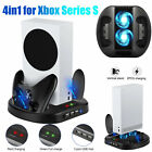 Vertical Stand Cooling Fan Controller Charging USB Hub for Xbox Series S Console