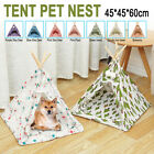 Portable Pet Teepee Tent Foldable Cat Bed Dog Puppy House Washable