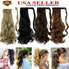 New Women Mega Thick Claw Wrap Clip in Ponytail Hair Extension Soft Long Curly