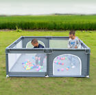 Baby Safety Play Yard Kid Activity Center Foldable Large Playpen Fence Ball Pit