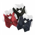 Pet Clothes Formal T Shirt Small Dog Cat Wedding Party Tuxedo Suit Costume