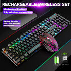 T3 Computer Desktop Wireless Gaming Keyboard Mouse LED Light Backlit RGB