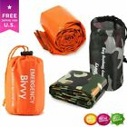 Hiking Emergency Sleeping Bag Thermal Waterproof Survival Camping Travel Bag US