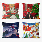 Merry Christmas 4 Pieces Two Sides Printed Throw Pillow Case Cover