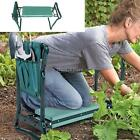 Garden Kneeler and Seat Bench Foldable Stool w/Tool Pouch for Gardening