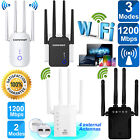 1200Mbps Dual Band Wireless Range Extender Repeater Internet WiFi Signal Booster