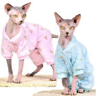 Sphynx Cat Pajamas Warm Winter Hairless Cat Clothing 100 Cotton Pet Cat Outfit
