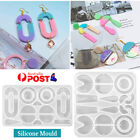 Silicone Earring Pendant Jewelry Mold Resin Casting Mould Tool Diy Epoxy Au