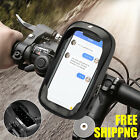 Motorcycle Bicycle Front Tube 360° Mount Phone Holder Case Touch Bag Waterproof