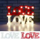 LED Neon Sign LOVE Letter Shaped Modeling Lamp Decorative Night Light Table Lamp