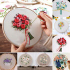 1 Set Flower Pattern Embroidery Beginners Kit Cross Stitch Needlework DIY Craft
