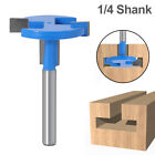 "Tongue and Groove Router Bit 2 Teeth T Shape 1/4"" Shank Wood Milling Cutter"