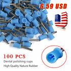 100PCS Dental Prophy Tooth Polishing Cups brushes Latch-Type Rubber polish COLOR