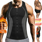 Men Neoprene Sauna Sweat Vest Shirt Body Shaper Waist Trainer Fat Burn Shapewear