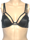 VICTORIAS SECRET LUXE LINGERIE VERY SEXY UNLINED RINGMASTER PLUNGE BRA BLACK NWT