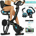 ANCHEER  3-IN1 Upright Exercise Bike Home Foldable Magnetic Stationary Bicycle