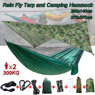 UK+Camping+Hammock+w%2F+Mosquito+Net+Military+Bushcraft+Double+Person+Hanging+Bed