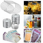 6/12x Wire Handles for Mason Stainless Steel Canning Jar Hanger Accessories Set