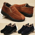 Mens Winter Warm Thick Fur Lined Anti-slip Ankle Boots Casual Work Low-top Shoes