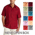 OPEN BOX Guayabera Short Sleeve Pocket Casual Button Up Cuban Wedding Shirt