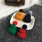 Mini Knitted Fashion Bobble Hat Beanie Novelty Brooch Pin Badge Clothes Decor Q