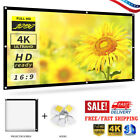 Portable Foldable Wall Projector Screen 16:9 Home Theater Outdoor 60-120inch