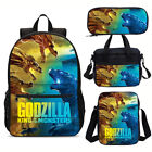 Godzilla Monster Backpack Insulated Lunch Box Shoulder Bag Pencil Case Value Lot