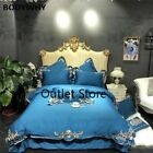 Luxury Gold Embroidery Egyptian Cotton European Bedding Set  Duvet Cover Bed