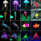 Artificial Luminous Jellyfish Octopus Seahorse Water Fish Tank Aquarium Ornament