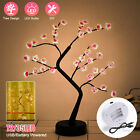LED Fairy Bonsai Tree Light DIY Copper Wire Home Room Party Decor USB Touch Lamp