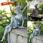 Tudor And Turek Sitting Fairy Statue Garden Ornament Deco Craft Landscaping Yard
