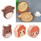 Wooden Cartoon Baby Tooth Box Organizer Baby Boys Girls Hair Collection Box