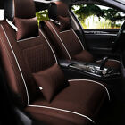 5 Seats Car Cover Luxury PU Leather Front & Rear Full Set Cushion Mat Universal
