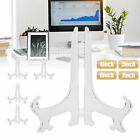 """5X 4-7""""Clear Plastic Display Stand Easel Plate Holder Picture Photo Art Party US"""