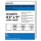 Milcoast DIY Glossy Full Sheet Printable Adhesive Sticker Paper Labels