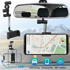 360° Car Rearview Mirror Universal Mount Stand Holder Cradle For Cell Phone GPS