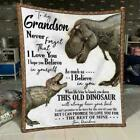 Grandma dinosaur to my grandson never forget that I love you fleece soft blanket