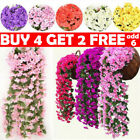 Artificial Fake Hanging Flowers Vine Plant Garland Home Garden Decor Outdoor Lfy